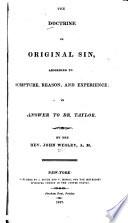 The Doctrine of Original Sin Book PDF