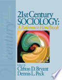 21st Century Sociology  A Reference Handbook