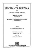 The Siddhanta Deepika Or the Light of Truth