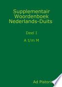 Supplementair Woordenboek Nederlands-Duits, a-m