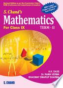 S Chand S Mathematics For Class Ix Term Ii book
