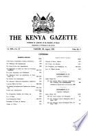 Kenya Gazette