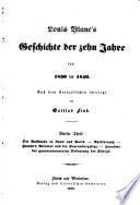 Louis Blanc s Geschichte der zehn Jahre von 1830 bis 1840