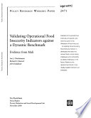 Validating Operational Food Insecurity Indicators Against a Dynamic Benchmark