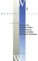 Slavica der Hermann Bahr Sammlung an der Universit  tsbibliothek Salzburg