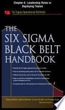 The Six Sigma Black Belt Handbook  Chapter 8   Leadership Roles in Deploying Teams