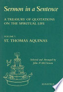 A Treasury of Quotations on the Spiritual Life from the Writings of St  Thomas Aquinas  Doctor of the Church