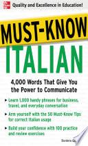 Must Know Italian