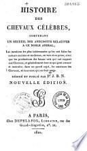 illustration Histoire des chevaux célèbres contenant un recueil des anecdotes relatives à ce noble animal