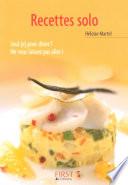 Petit livre de - Les recettes solo