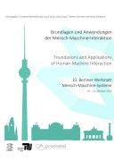 Grundlagen und Anwendungen der Mensch-Maschine-Interaktion