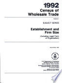 1992 Census of Wholesale Trade