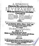 A  Roberts Historie der Neu gefundenen V  lcker Sevarambes  Welche einen Theil des Dritten festen Landes  so man sonsten das Sud Land nennet  bewohnen
