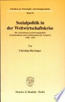 Sozialpolitik in der Weltwirtschaftskrise
