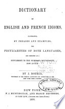 Dictionary of English and French Idioms