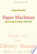 Paper Machines A Computer Eighty Years Ago Desktops