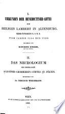 Das Nekrologium des ehemaligen Augustiner-Chorherren-Stiftes St. Pölten