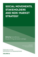 Social Movements, Stakeholders and Non-Market Strategy