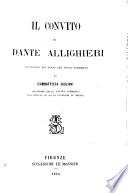 Il convito di Dante Allighieri reintegrato nel testo con nuovo commento da Giambattista Giuliani