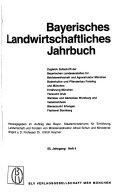 Bayerisches landwirtschaftliches Jahrbuch