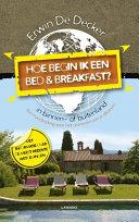 Hoe begin ik een bed and breakfast