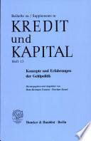 Konzepte und Erfahrungen der Geldpolitik