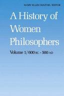 A History of Women Philosophers