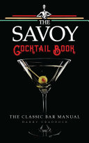The Savoy Cocktail Book Book