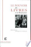Le pouvoir des livres    la Renaissance