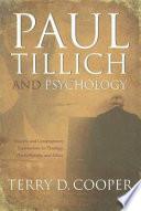 Paul Tillich And Psychology