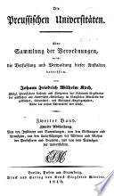 Die preussischen universit  ten