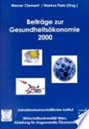 Beiträge zur Gesundheitsökonomie 2000
