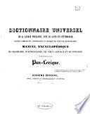 Dictionnaire universel de la langue fran  aise avec le latin et l   tymologie