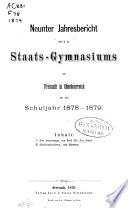 Programm des K.K. Staats- Realgymnasiums zu Freistadt in Ober-Österreich