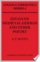 Essays on Medieval German and Other Poetry Medieval German Heroic And Epic Poetry