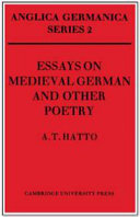 Book Essays on Medieval German and Other Poetry