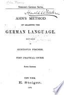 Ahn's Method of Learning the German Language