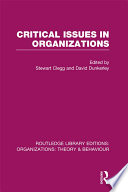 Critical Issues in Organizations  RLE  Organizations