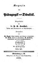Magazin für Pädagogik und Didaktik