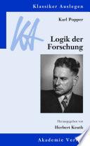 Karl Popper  Logik der Forschung