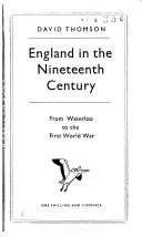 England in the nineteenth century, 1815-1914