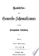 Handels- und Gewerbe-Schematismus für das Herzogthum Salzburg