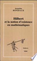 illustration Hilbert et la notion d'existence en mathématiques
