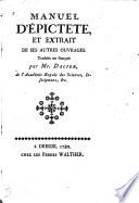 Manuel d'Épictete