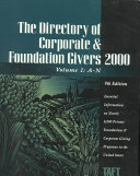 Directory of Corporate and Foundation Givers