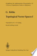 Topological Vector Spaces I