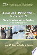 Researcher   Policymaker Partnerships