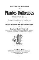 Monographie horticole des plantes bulbeuses