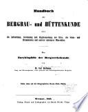 Handbuch der Bergbau- und Hüttenkunde