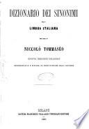 Dizionario dei sinonimi della lingua italiana per cura di Niccolo Tommaseo